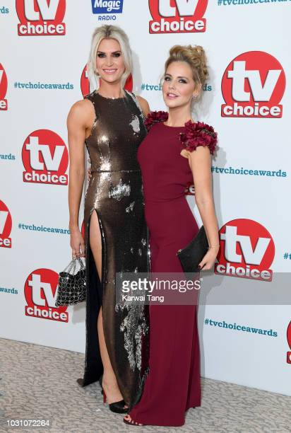 Sarah Jayne Dunn and Stephanie Waring attend the TV Choice Awards at The Dorchester on September 10 2018 in London England