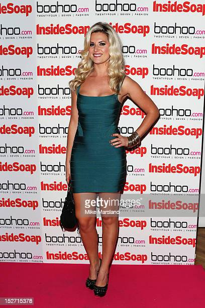 Sarah Jayne Dunn attends the Inside Soap Awards at One Marylebone on September 24 2012 in London England