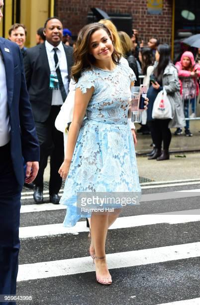 Sarah Jeffery is seen walking in midtown on May 17 2018 in New York City