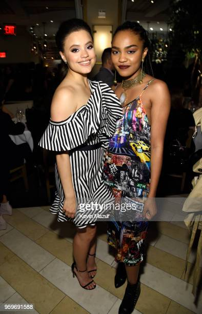 Sarah Jeffrey and China Anne McClain attend The CW Network's 2018 upfront party at Avra Madison Estiatorio on May 17 2018 in New York City