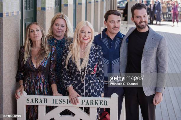 Sarah Jessica Parker Alison Benson Monika Bacardi Fabien Constant and Andrea Iervolino pose during the 44th Deauville US Film Festival on September 7...