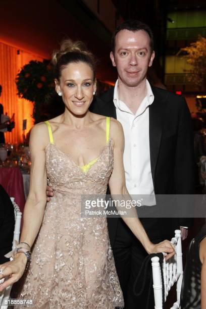 Sarah Jessica Parker and Alexei Ratmansky attend NEW YORK CITY BALLET Spring Gala 2010 Arrivals at Lincoln Center on April 29 2010 in New York