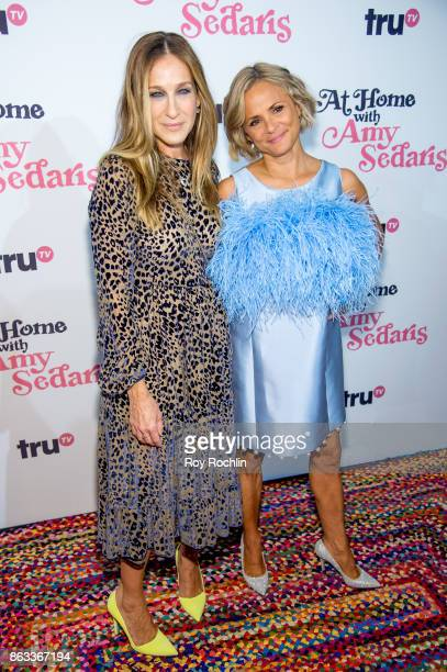 Sarah Jessica Parker and Amy Sedaris attend 'At Home With Amy Sedaris' New York Screening at The Bowery Hotel on October 19 2017 in New York City