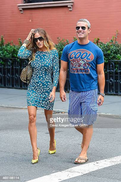 Sarah Jessica Parker and Andy Cohen are seen on September 09, 2012 in New York City.