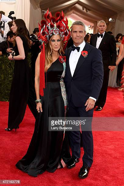 Sarah Jessica Parker and Andy Cohen attend the China Through The Looking Glass Costume Institute Benefit Gala at the Metropolitan Museum of Art on...