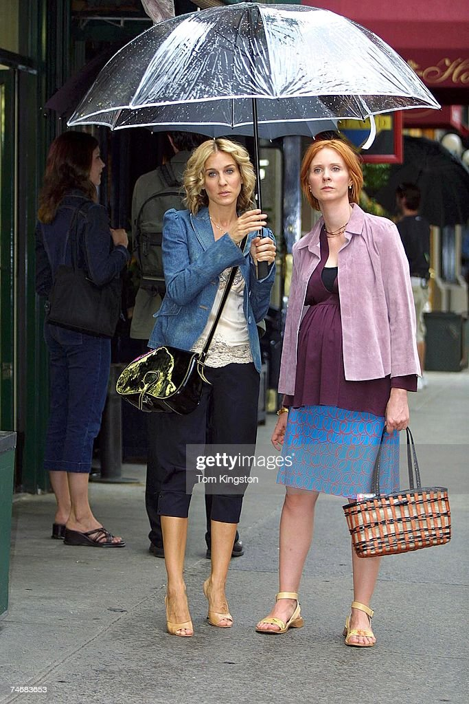 Sarah Jessica Parker and Cynthia Nixon at the Manhattan in New York City, New York
