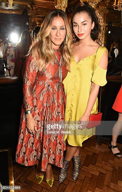 Sarah Jessica Parker and Ella Eyre attend as Sarah Jessica Parker launches her latest fragrance 'Stash' available nationwide at Superdrug and Boots...
