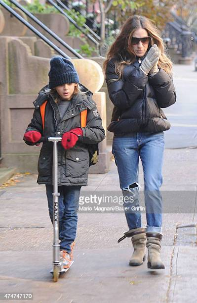 Sarah Jessica Parker and her son James Wilkie Broderick are seen on November 09 2012 in New York City