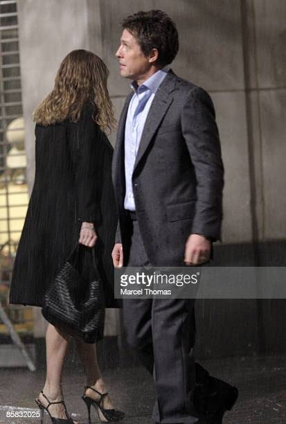 Sarah Jessica Parker and Hugh Grant are seen on the streets of Manhattan on April 6 2009 in New York City