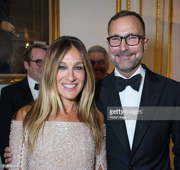 Sarah Jessica Parker and James Costos attend The Hispanic Society Museum and Library 2016 Gala at Metropolitan Club on October 6, 2016 in New York...