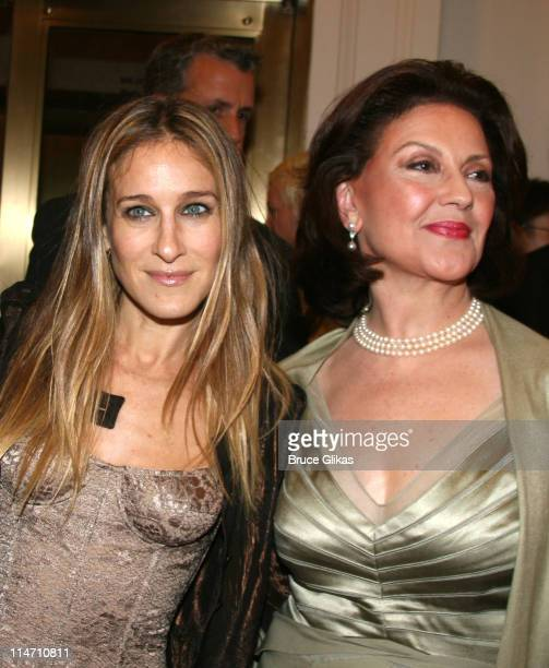 Sarah Jessica Parker and Kelly Bishop during Opening Night of A Chorus Line Arrivals at The Gerald Schoenfeld Theater in New York New York United...