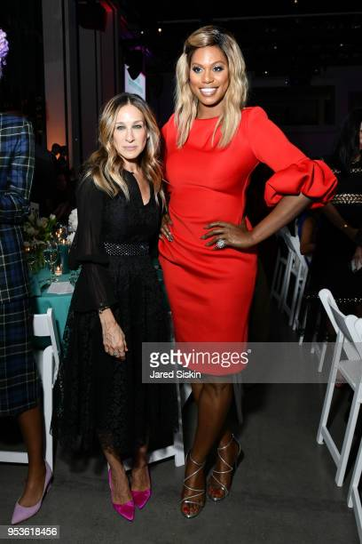 Sarah Jessica Parker and Laverne Cox attend Planned Parenthood of New York City Spring Gala honoring Cecile Richards and Laverne Cox at Spring...