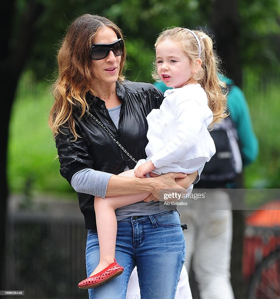 Sarah Jessica Parker and Marion Loretta Elwell Broderick are seen in the West Village on May 29, 2013 in New York City.