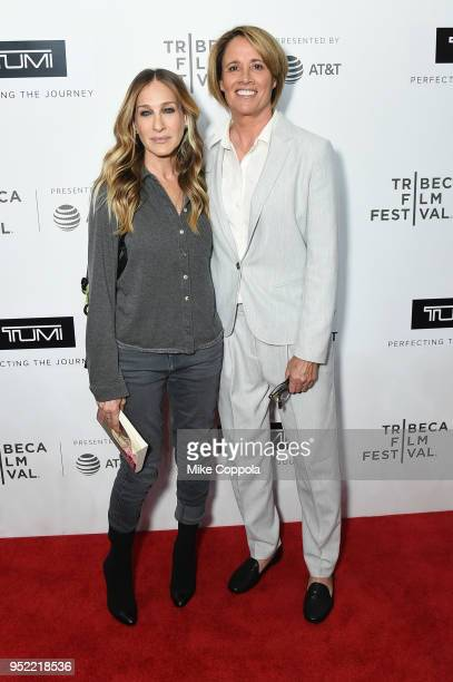 Sarah Jessica Parker and Mary Carillo attend The Journey With Sarah Jessica Parker during the 2018 Tribeca Film Festival at Spring Studios on April...