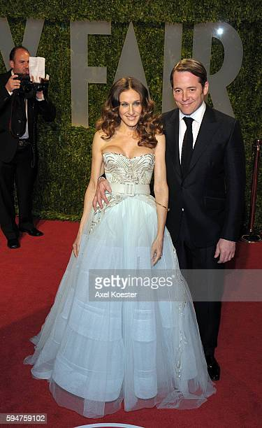 Sarah Jessica Parker and Matthew Broderick arrive to the Vanity Fair Oscar® Party in the Sunset Tower Hotel in West Hollywood Sunday evening