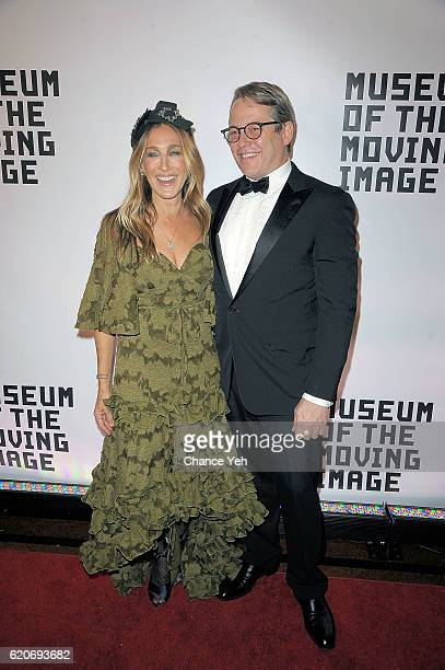 Sarah Jessica Parker and Matthew Broderick attend 30th annual Museum Of The Moving Image Salute to Warren Beatty at 583 Park Avenue on November 2...