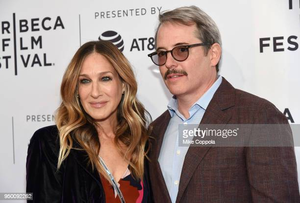 """Sarah Jessica Parker and Matthew Broderick attend a screening of """"To Dust"""" during the 2018 Tribeca Film Festival at SVA Theatre on April 22, 2018 in..."""