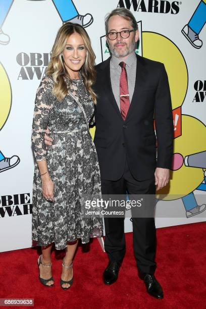 Sarah Jessica Parker and Matthew Broderick attend at the 2017 Obie Awards at Webster Hall on May 22 2017 in New York City