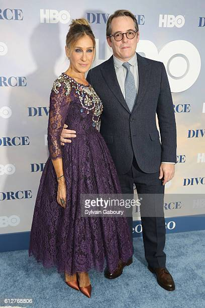 Sarah Jessica Parker and Matthew Broderick attend HBO Presents the New York Red Carpet Premiere of Divorce at SVA Theater on October 4 2016 in New...