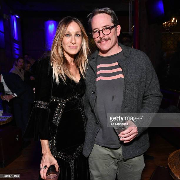 Sarah Jessica Parker and Matthew Broderick attend the 2018 Tribeca Film Festival afterparty for 'Blue Night' hosted by Nespresso at The Ainsworth on...