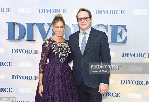 Sarah Jessica Parker and Matthew Broderick attend the Divorce New York Premiere at SVA Theater on October 4 2016 in New York City