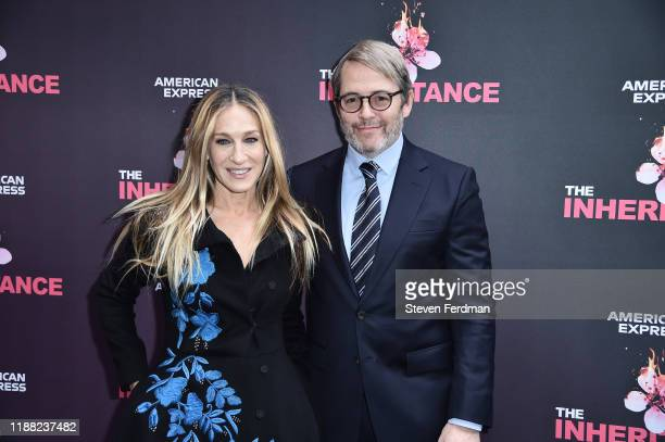 Sarah Jessica Parker and Matthew Broderick attend The Inheritance Opening Night at the Barrymore Theatre on November 17 2019 in New York City