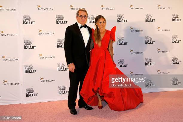 Sarah Jessica Parker and Matthew Broderick attend the New York City Ballet 2018 Fall Fashion Gala at David H Koch Theater at Lincoln Center on...