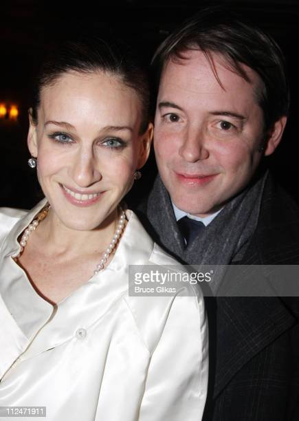 Sarah Jessica Parker and Matthew Broderick attend the opening night of 'The American Plan' on Broadway at the Samuel J Friedman Theatre on January 22...