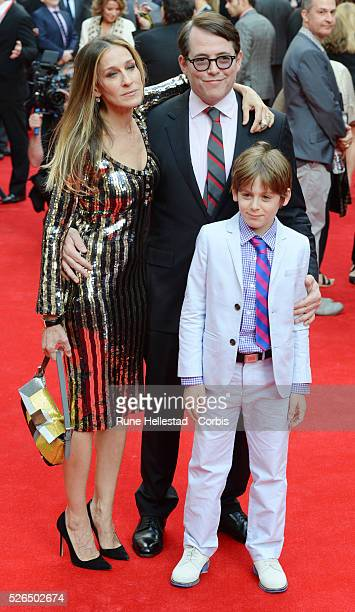 Sarah Jessica Parker and Matthew Broderick attend the opening night of Charlie And The Chocolate Factory at Theatre Royal