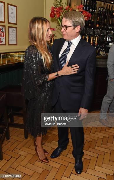 """Sarah Jessica Parker and Matthew Broderick attend the press night after party for """"The Starry Messenger"""" at Browns on May 29, 2019 in London, England."""