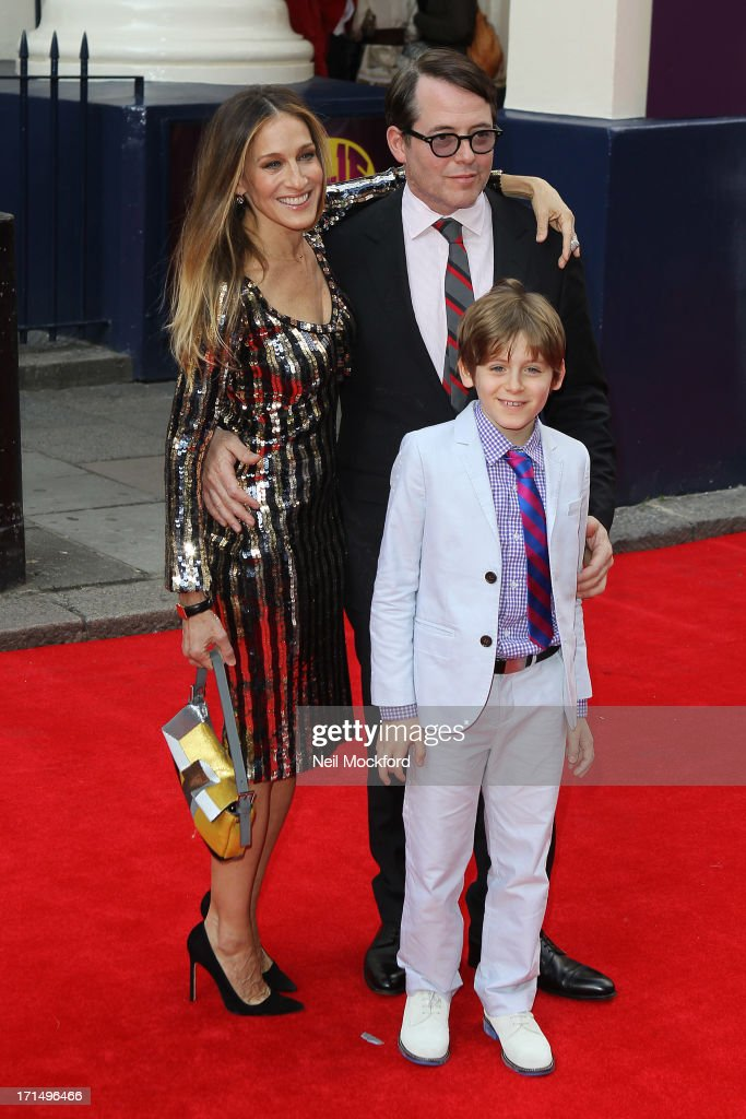 Sarah Jessica Parker and Matthew Broderick attends the press night for 'Charlie and the Chocolate Factory' at Theatre Royal on June 25, 2013 in London, England.