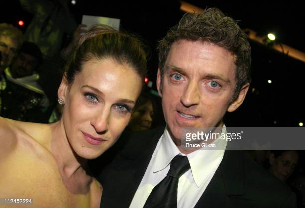 Sarah Jessica Parker and Michael Patrick King during 2005 Screen Actors Guild Awards HBO Post SAG Awards Dinner at Spago Restaurant in Beverly Hills...