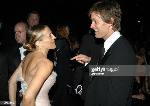 Sarah Jessica Parker and Peter Krause during 55th Annual Primetime Emmy Awards Backstage and Audience at The Shrine Auditorium in Los Angeles...