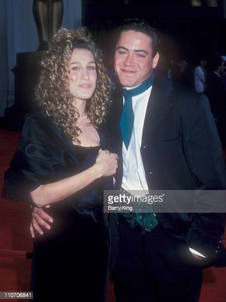 Sarah Jessica Parker and Robert Downey Jr during 61st Annual Academy Awards Arrivals at Shrine Auditorium in Los Angeles California United States