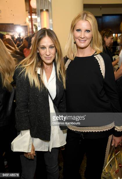 Sarah Jessica Parker and Sandra Lee attend the CHANEL Tribeca Film Festival Women's Filmmaker Luncheon at Odeon on April 20 2018 in New York City