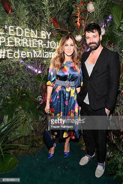Sarah Jessica Parker and Simon Hammerstein attend the L'Eden By PerrierJouet opening night in partnership with Vanity Fair at Casa Faena on November...