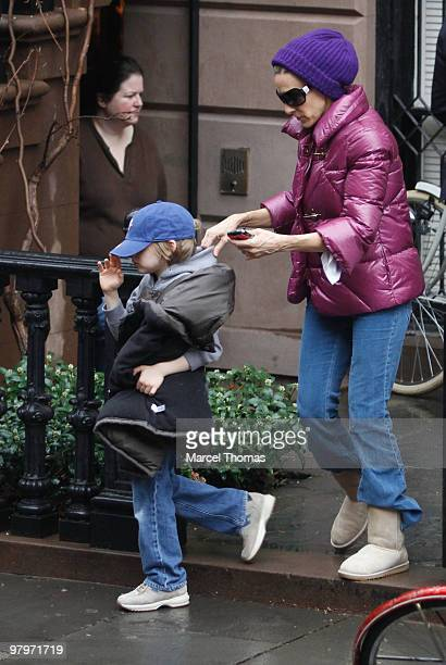 Sarah Jessica Parker and son James Broderick are seen leaving her home on March 22 2010 in New York New York