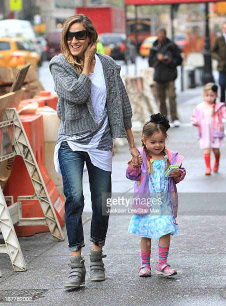 Sarah Jessica Parker and Tabitha Broderick as seen on April 29, 2013 in New York City.
