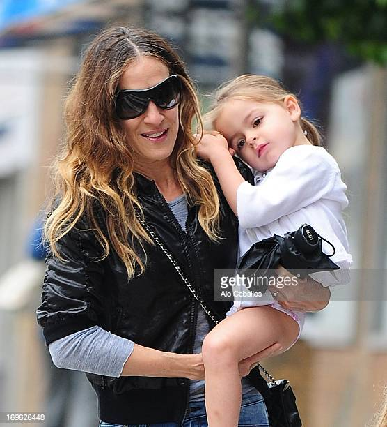 Sarah Jessica Parker and Tabitha Hodge Broderick are seen in the West Village on May 29, 2013 in New York City.
