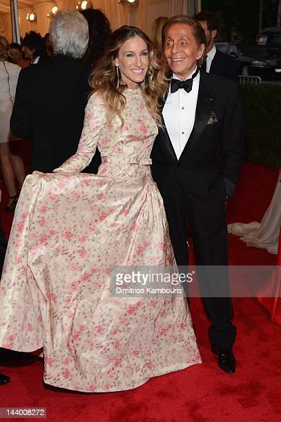 Sarah Jessica Parker and Valentino Garavani attend the Schiaparelli And Prada Impossible Conversations Costume Institute Gala at the Metropolitan...
