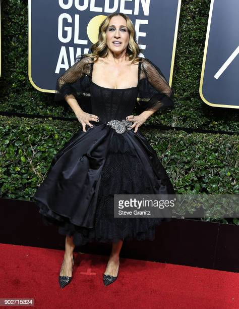 Sarah Jessica Parker arrives at the 75th Annual Golden Globe Awards at The Beverly Hilton Hotel on January 7 2018 in Beverly Hills California