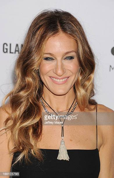 Sarah Jessica Parker arrives at the amfAR 3rd Annual Inspiration Gala at Milk Studios on October 11, 2012 in Los Angeles, California.
