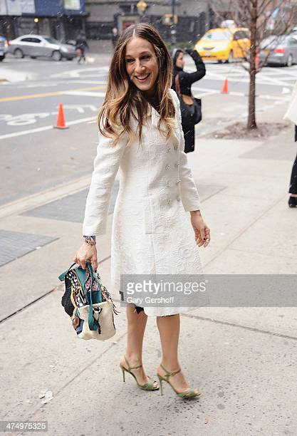 Sarah Jessica Parker arrives to the opening of the SJP Collection Pop Up Shop on February 26 2014 in New York City