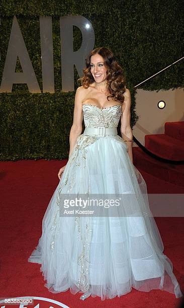 Sarah Jessica Parker arrives to the Vanity Fair Oscar® Party in the Sunset Tower Hotel in West Hollywood Sunday evening.