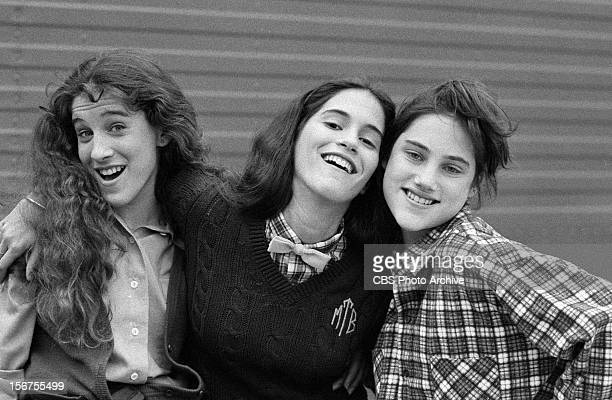 Sarah Jessica Parker as Patty Greene Jami Gertz as Muffie Tepperman and Amy Linker as Lauren Hutchinson in the pilot episode of SQUARE PEGS Image...