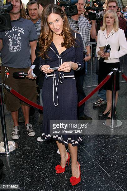 Sarah Jessica Parker at the Matthew Broderick and Nathan Lane Honored With a Double Star Ceremony on the Hollywood Walk of Fame at Hollywood Highland...
