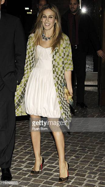 Sarah Jessica Parker at the Tribeca Grand Hotel Grand Screening Room in New York City New York