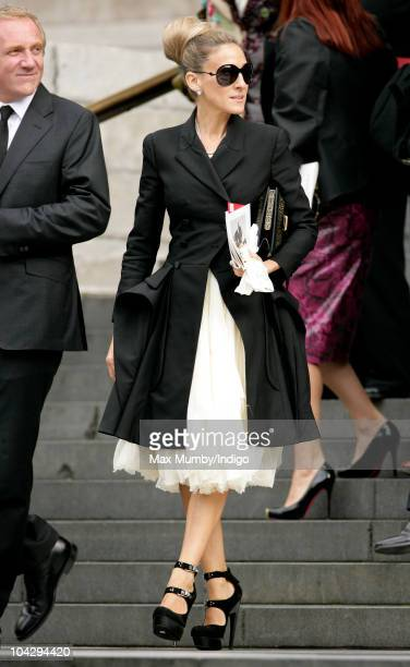 Sarah Jessica Parker attends a memorial service for Alexander McQueen at St Paul's Cathedral on September 20 2010 in London England