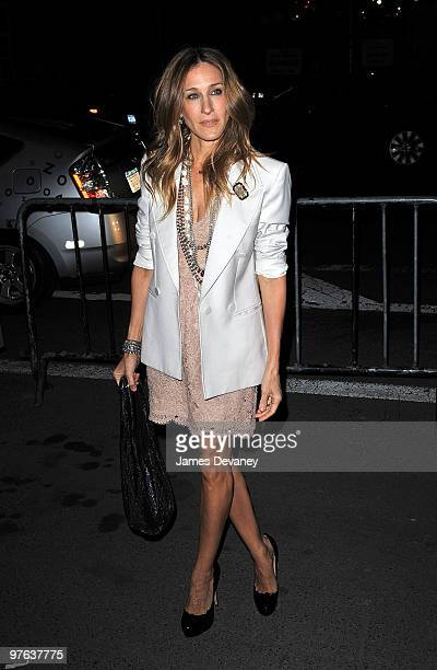 Sarah Jessica Parker attends Bravo's 2010 Upfront Party at Skylight Studio on March 10 2010 in New York City