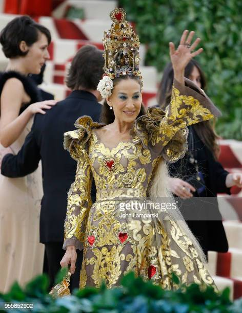 Sarah Jessica Parker attends Heavenly Bodies Fashion The Catholic Imagination Costume Institute Gala at The Metropolitan Museum of Art on May 7 2018...